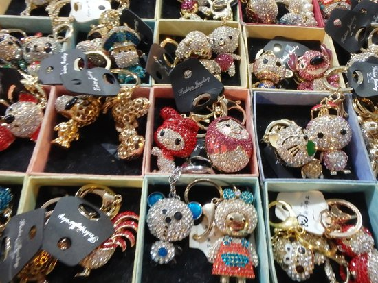 Temple Street Night Market: sparkly trinkets available everywhere