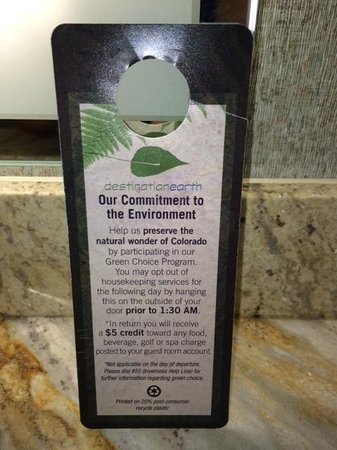 Hilton Denver Inverness: Green Measures