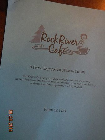 Rock River Cafe: menu