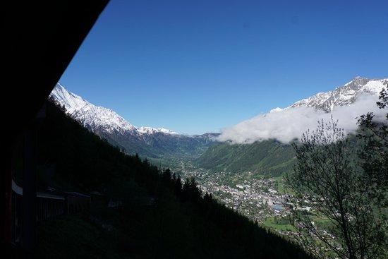 Montenvers - Mer de Glace train: Chamonix view On the way up