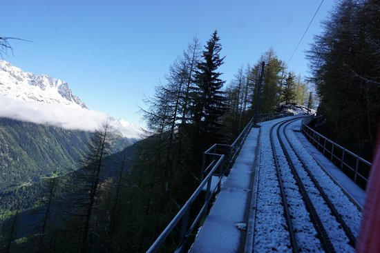 Montenvers - Mer de Glace train: Train Track on the way up