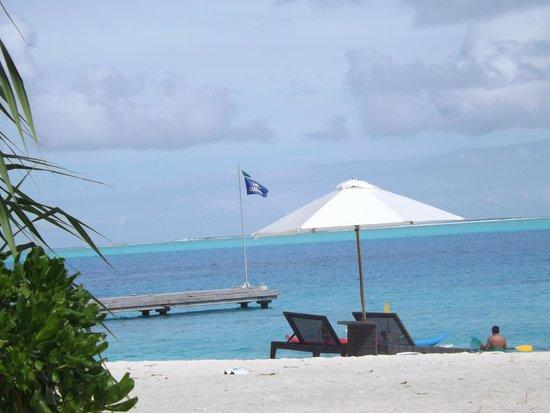 Conrad Bora Bora Nui : Magnifique vue de l'hotel sur le lagon