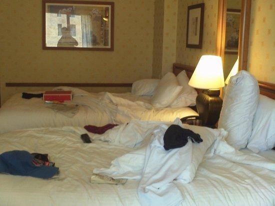 Bally's Atlantic City: pardon the mess. bed was comfy