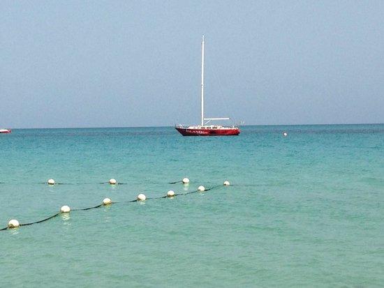 Grand Pineapple Beach Negril: beautiful water view from my beachchair