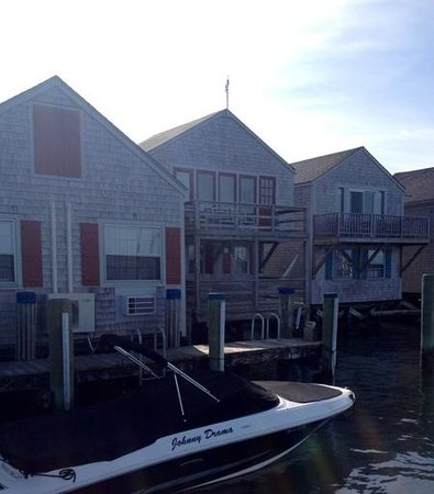 The Cottages at Nantucket Boat Basin: the Loon cottage is in the center