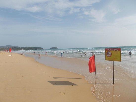 Baumancasa Karon Beach Resort : Красные флаги по всему периметру
