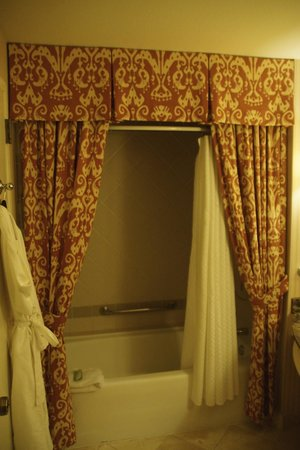 La Cantera Resort & Spa: Never seen what looked like curtains around a shower... but it's a resort