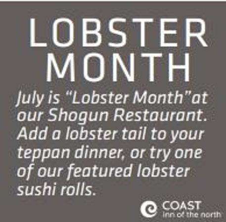 Shogun Japanese Steakhouse: Join us for Lobster month on now!