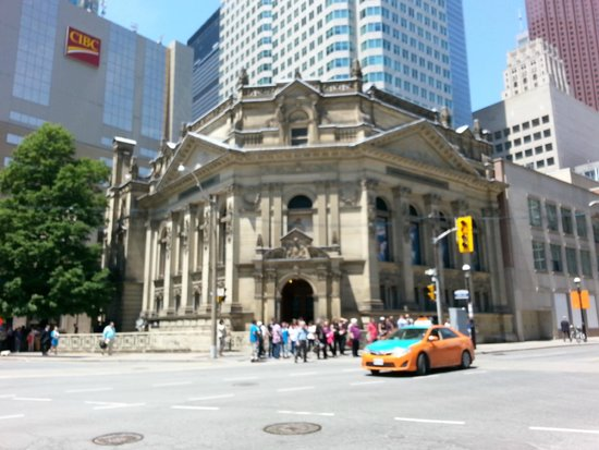Hockey Hall of Fame: the shrine part of it, rest of it is behind it and underground