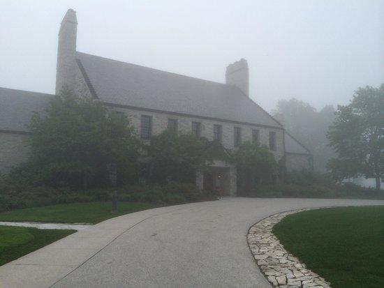 Whistling Straits Golf Course - Straits and Irish : Misty morning.