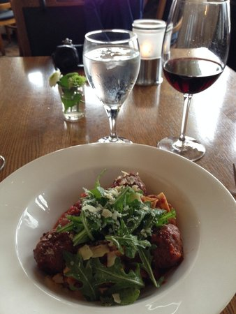 Lakeside Dining Room : bison meatball fetuccini