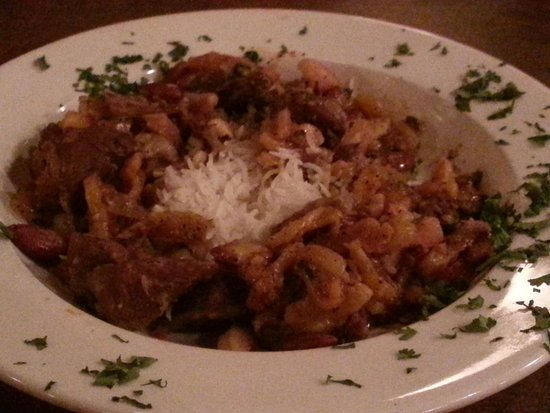 Caspian Cafe Mediterranean: lamb tagine with apricot n almonds