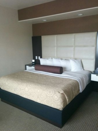 Nice comfy beds soft pillows huge room big enough for a family of