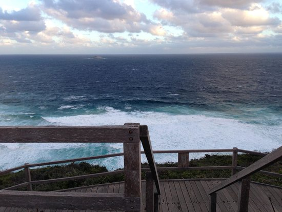 Albany Wind Farm: Facing the Southern Ocean - great views & gusty wind