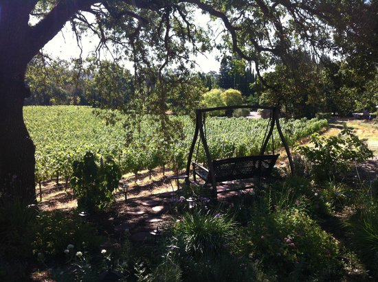 Wine Country Inn & Cottages: Loved relaxing in the swing in the evening!
