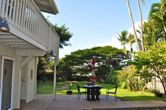 Paia Bay Suites: The back yard!