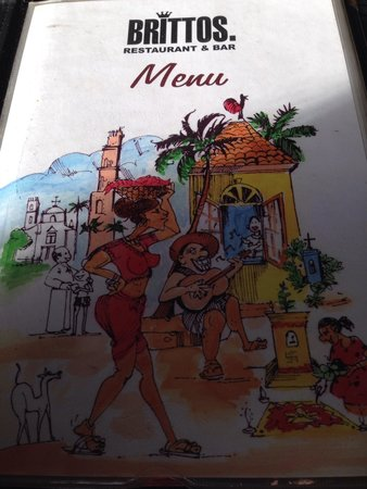 Britto's: The catchy menu card