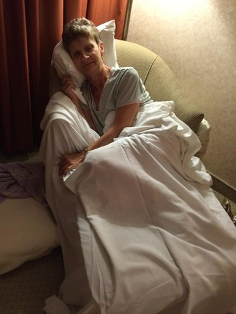 DoubleTree by Hilton Hotel Gatineau-Ottawa: my mom sleeping on a Chair