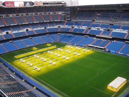Stadio Santiago Bernabeu: Blick vom obersten Rang