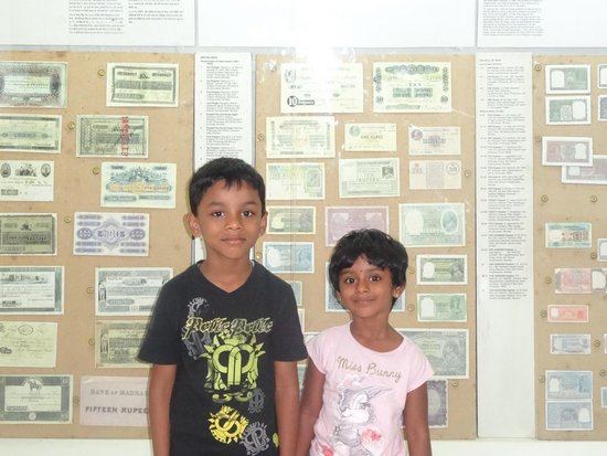 Coin Museum: My son & daughter at Coin/Money Museum