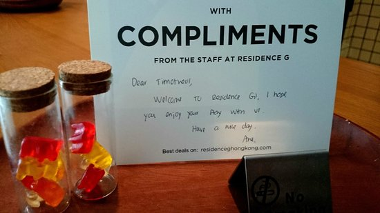 Residence G Hong Kong (by Hotel G): Welcome Note
