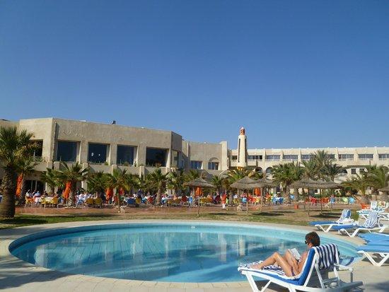 Djerba Holiday Beach : Terrasse du restaurant