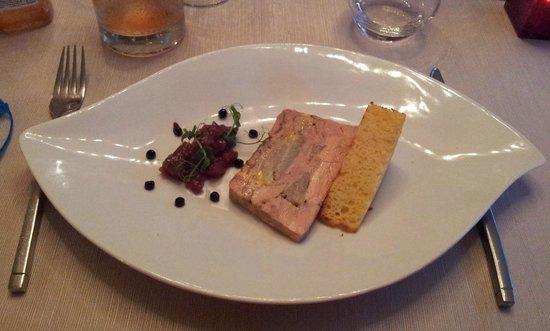 Hostellerie de la Porte Bellon Restaurant: marbré de foie gras