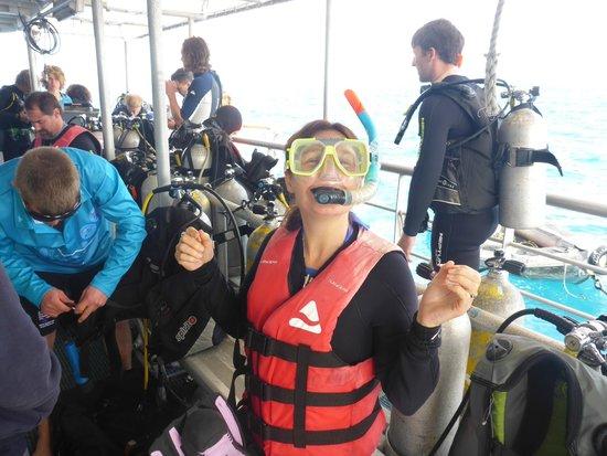 Cairns Dive Centre: The dive deck
