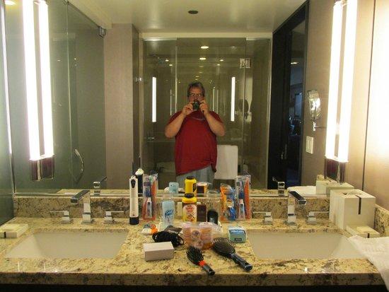 ARIA Resort & Casino: bathroom sinks & mirror & me