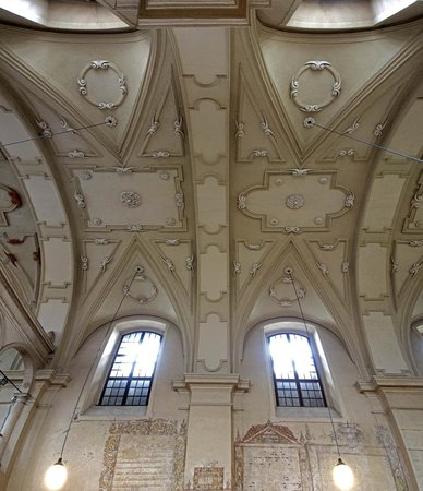 Quartier juif (Kazimierz) : Izaak Synagogue Baroque ceiling by Francesco Olivierri - stitched pan