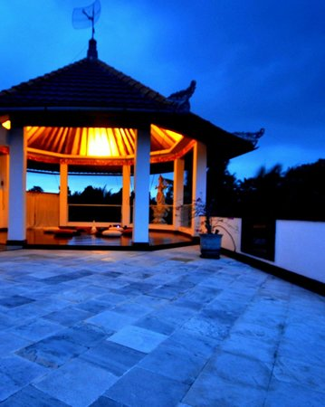 White Lotus Yoga & Meditation Centre: after sunset on the roof