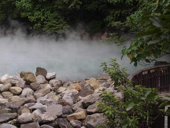 Beitou Thermal Valley(Hell Valley): steam arising from thermal valley