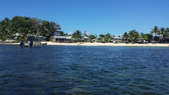 Savaii Lagoon Resort: View from the water
