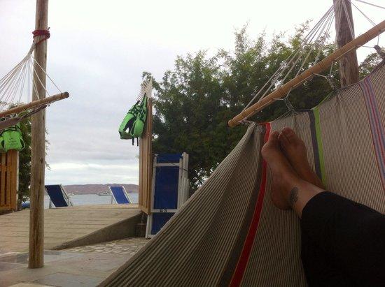 Kokopelli Hostel Paracas: Hamacas y salida a la playa