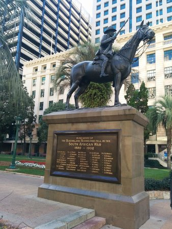 Anzac Square: Dedicated to the Boer War as see from Adelaide Street entrance.