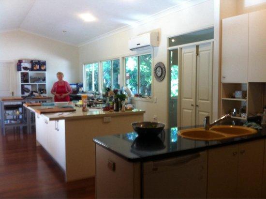 Tamborine Cooking School: The kitchen - food prep area