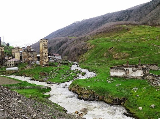 Upper Svaneti, Georgia: The entrance to Ushguli