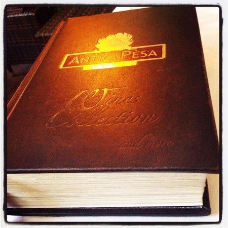 Antica Pesa: The wine book ...