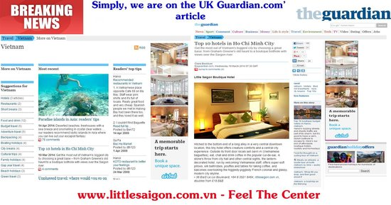 Little Saigon Boutique Hotel : News on UK's Guardian