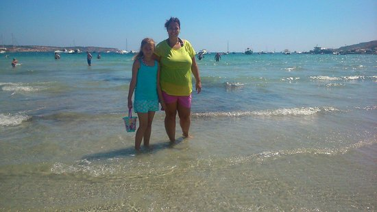 db Seabank Resort + Spa: My wife to be and daughter .