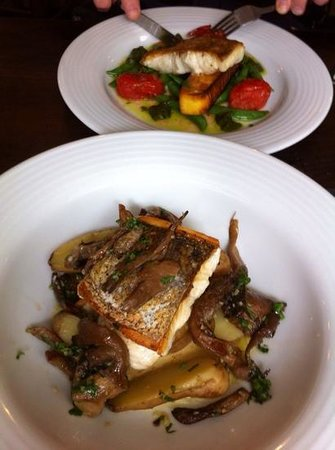 Tolcarne Inn: cod and hake