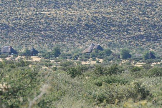 Tswalu Kalahari Reserve: View of Motse Lodge