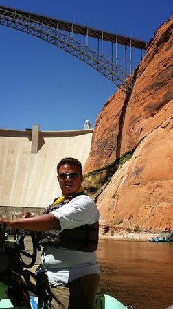 Colorado River Discovery : Our fearless leader, Nate Yazzie