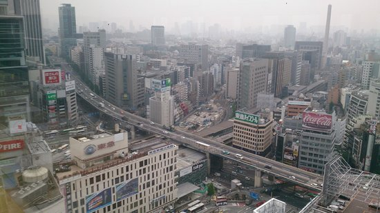 Shibuya Excel Hotel Tokyu: View from the breakfast area