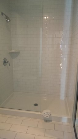 University Plaza Waterfront Hotel: Shower in King Suite