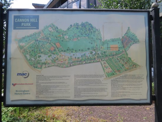 Map of park Picture of Cannon Hill Park Birmingham TripAdvisor