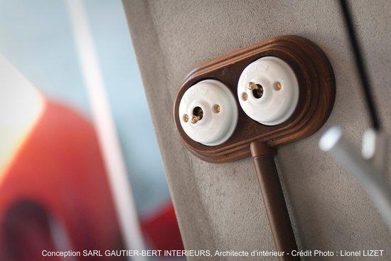 Chateau la Mothe du Barry: Chambre Cuve à Mon Loup : détails déco