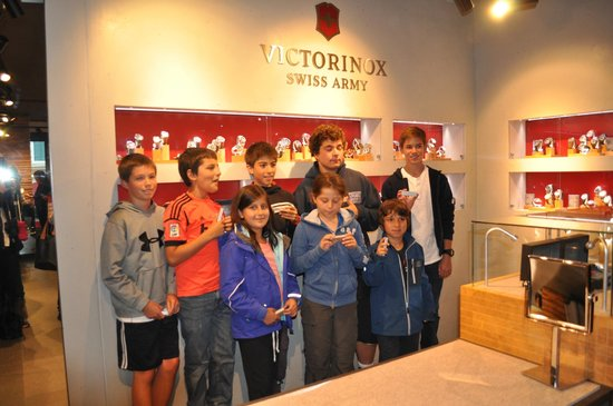 Swiss Knife Valley Visitor Center: Kids loved their new self made knives.