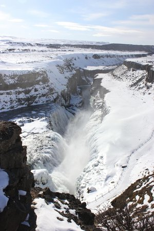 Gullfoss : Looking down from the top platform
