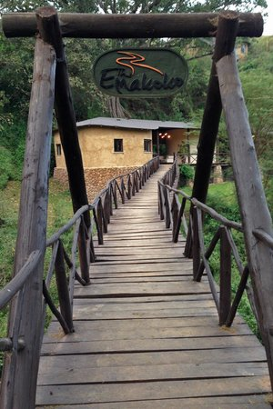The Emakoko: The footbridge from the Narobi National Park to the Lodge